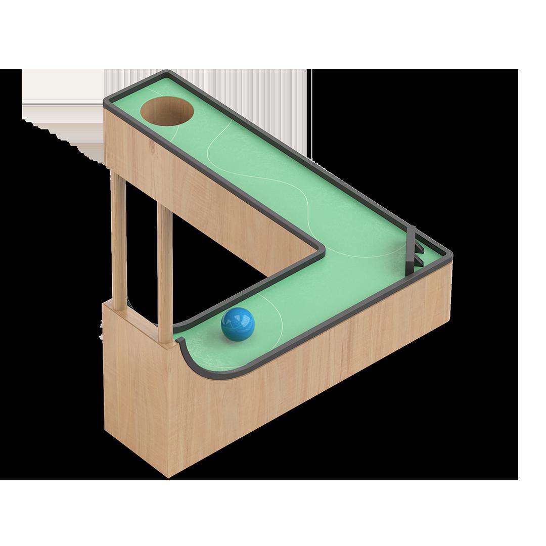 3d ikon illustrasjon av en ball som ruller igjennom penrose triangelen lagd for nte
